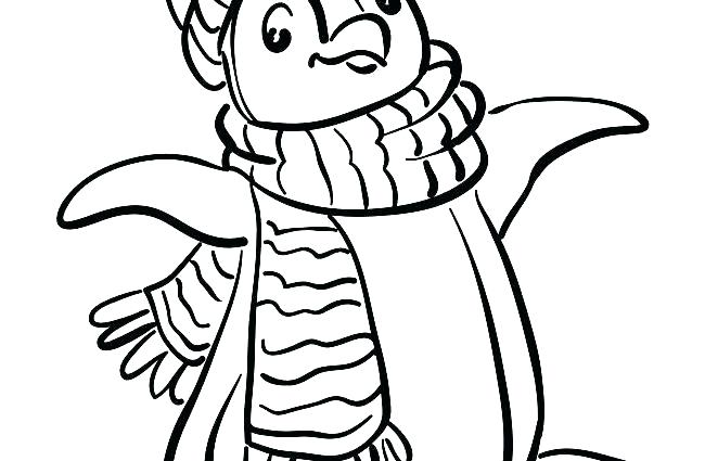 650x425 Printable Penguin Coloring Pages Baby Penguin Coloring Pages