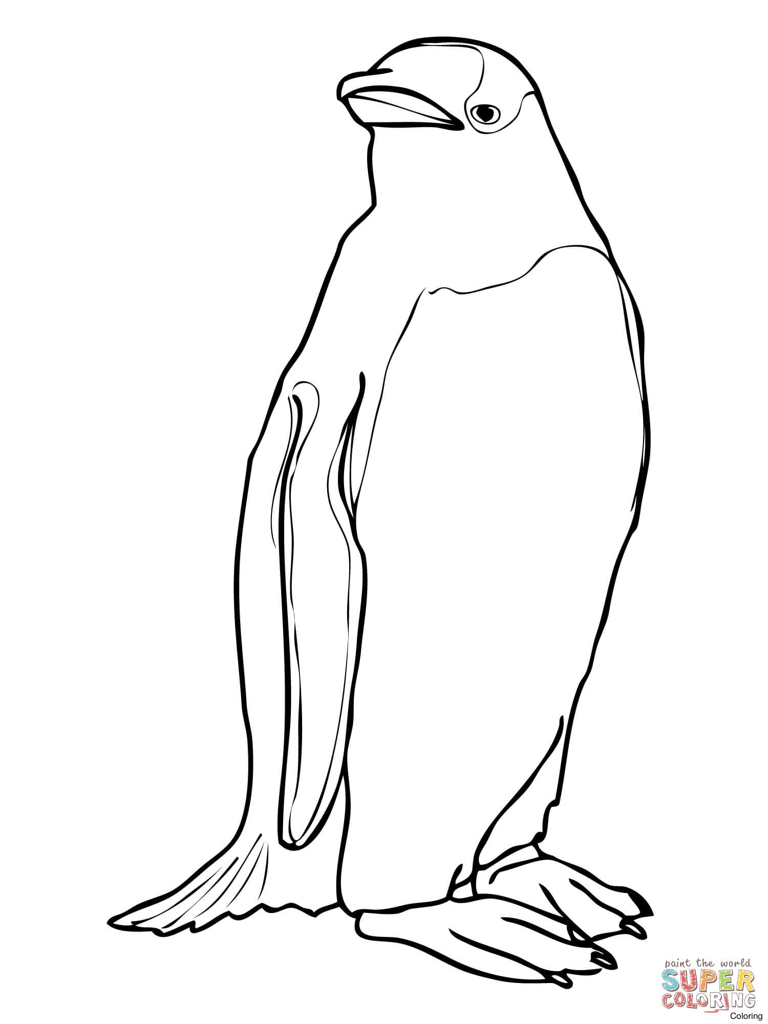 1500x2000 Skiing Penguin Coloring Page Zlm Penguins Sheets 16f 321