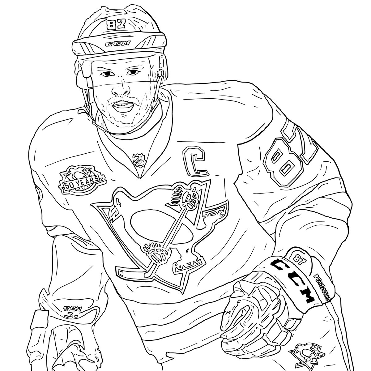 Pittsburgh penguins drawing at free for for Sidney crosby coloring pages