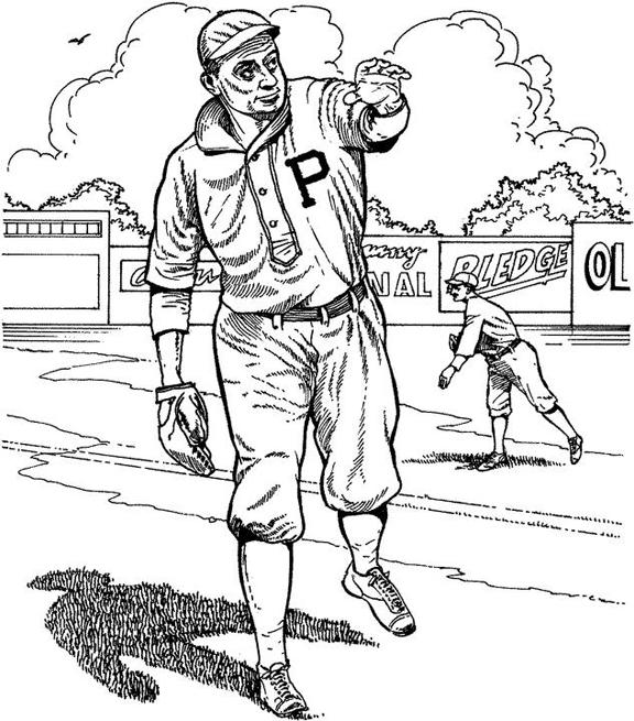 576x655 Pittsburgh Pirate Player Baseball Coloring Page Purple Kitty
