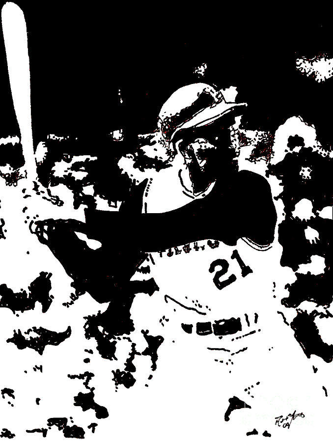 678x900 Roberto Clemente Drawing Drawing By Rob Monte