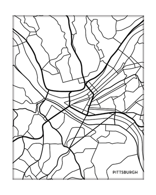 320x400 Map Pittsburgh Artwork
