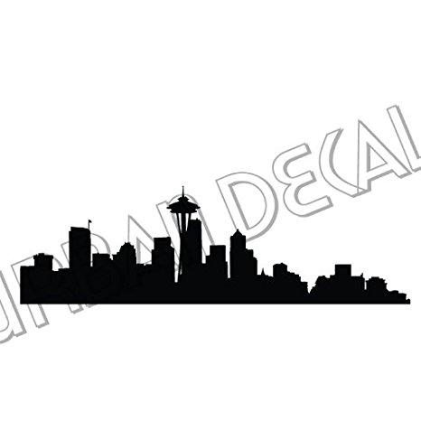 466x466 Seattle Skyline Wall Decal, Vinyl Sticker Home Amp Kitchen