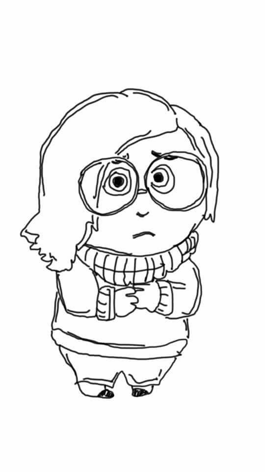 540x960 Fear From Disney's Pixar Inside Out Drawing By Riya Raghunath