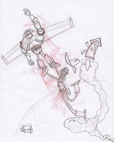 236x293 Buzz Lightyear. A Preparatory Drawing For The Toy Story Animated