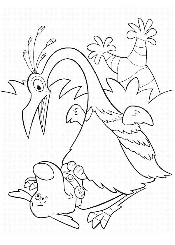 600x840 Kevin Surprised To See Dug In Disney Up Coloring Page
