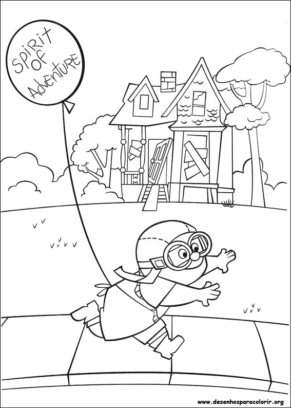 567x794 Pixar Up House Coloring Pages, Up Balloon House Coloring Pages