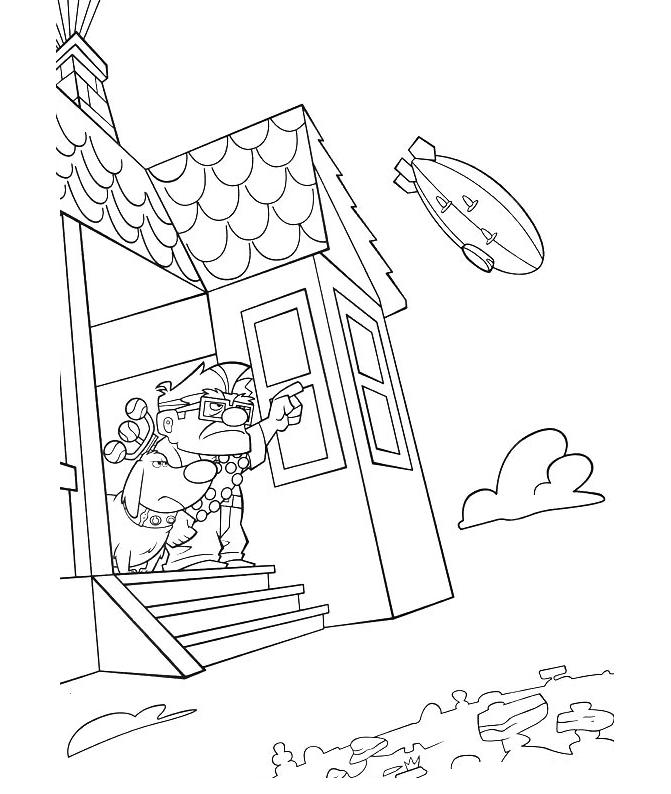 picture relating to House From Up Printable identified as Pixar Up Room Drawing at  Free of charge for