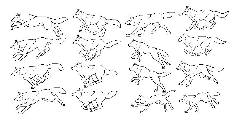 816x418 Wolf Pixel Art