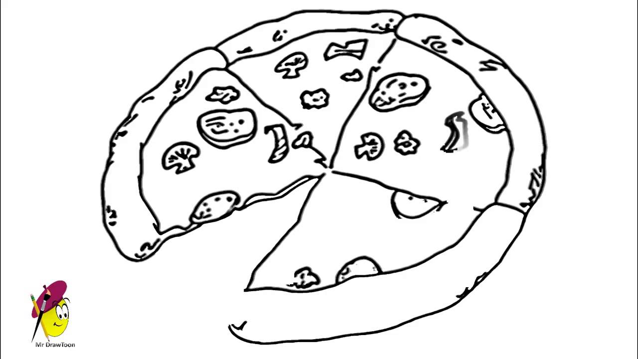 1280x720 How To Draw A Tasty Pizza