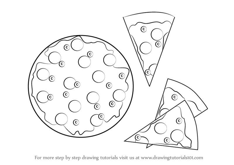 800x565 Learn How To Draw Pizza And Slices Of Pizza (Pizzas) Step By Step