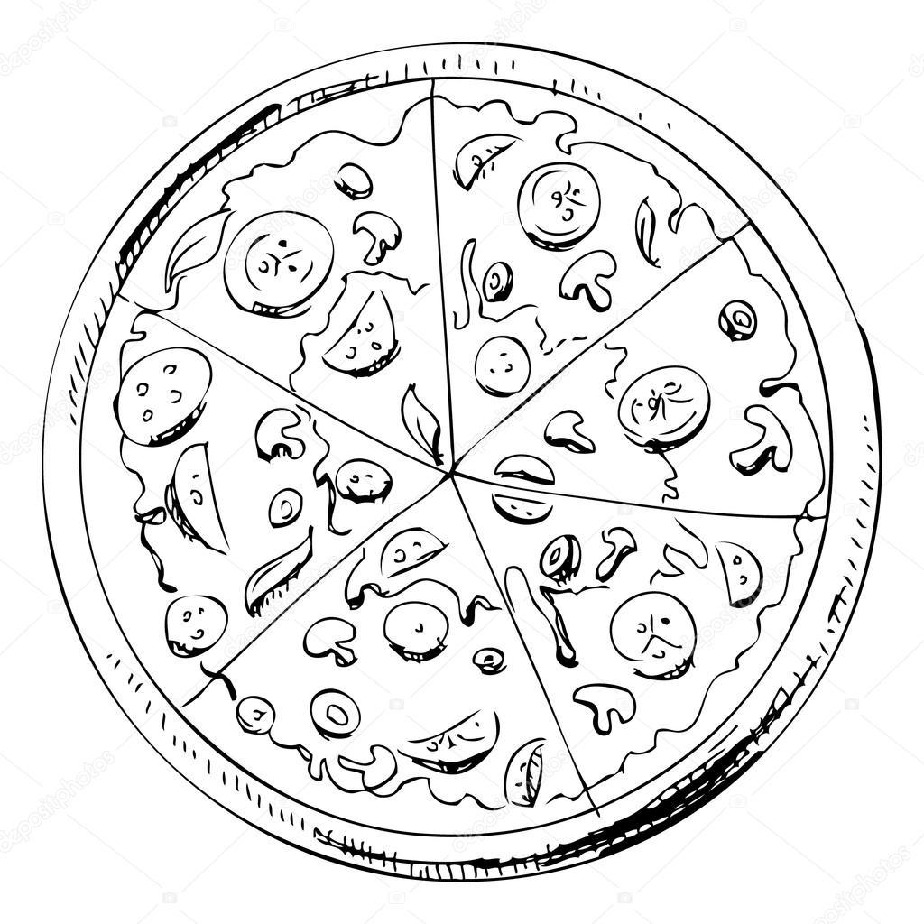 1024x1024 Pizza Icon. Stock Vector Chuhail