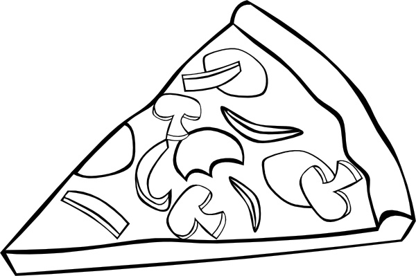 600x399 Pizza Slice Outline Free Vector Download (5,420 Free Vector)