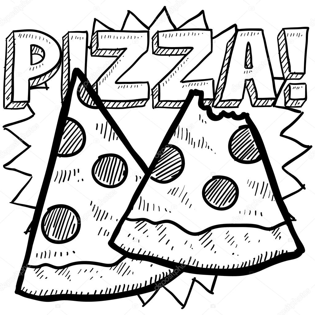 1024x1024 Pizza Slice Sketch Stock Photo Lhfgraphics