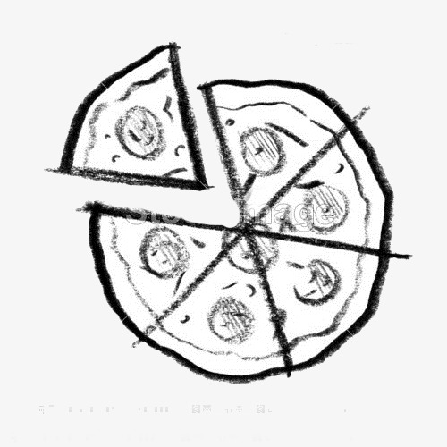 500x500 Charcoal Drawing Pizza, Pizza, Painting, Icon Png Image