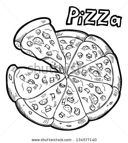 421x470 Drawn Pizza Piza