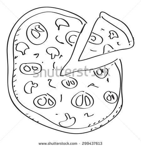 450x470 Drawn Pizza Simple