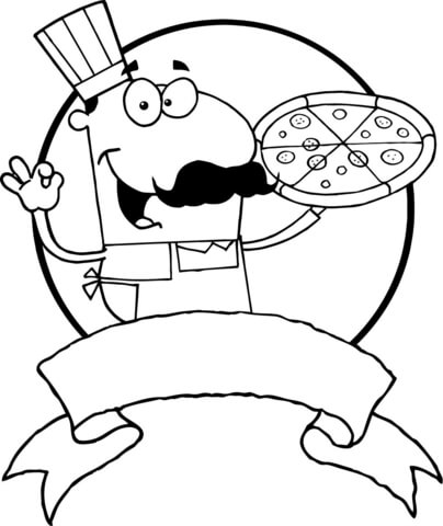 404x480 Italian Pizza Chef Coloring Page Free Printable Coloring Pages