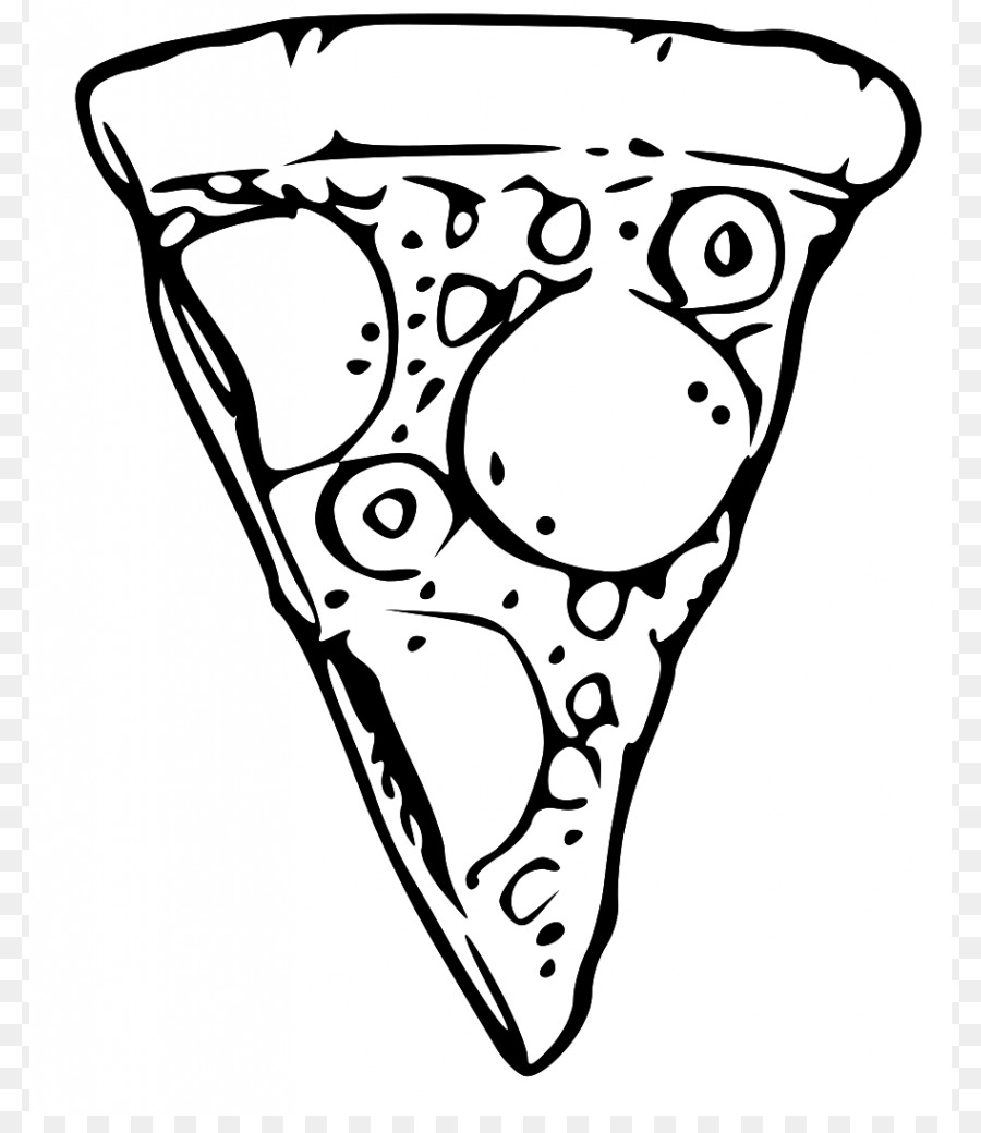 900x1040 Pizza Black And White Clip Art