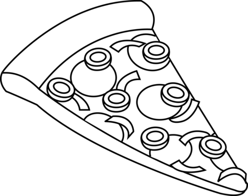 500x396 Pizza Drawing Black And White Hamburger Clip Art Black And White