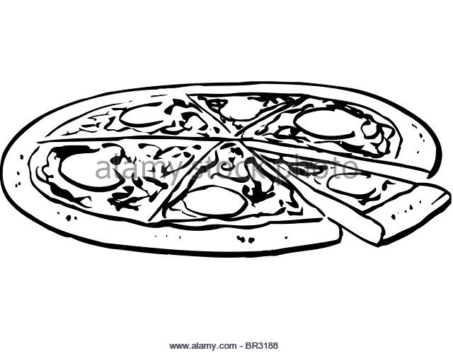 640x500 Black White Illustration Pizza Slice Stock Photos Amp Black White