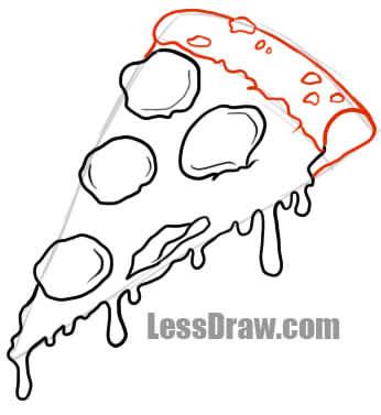346x377 How To Draw Pizza Lessdraw
