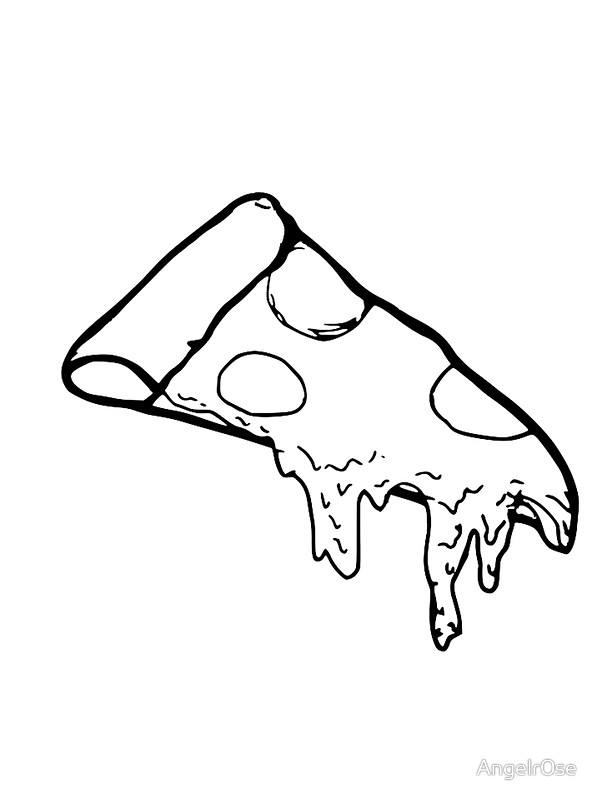 597x800 Melting Pizza Art Prints By Angelr0se Redbubble