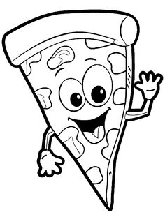 Free pizza coloring pages ~ Pizza Drawing Images at GetDrawings.com | Free for ...