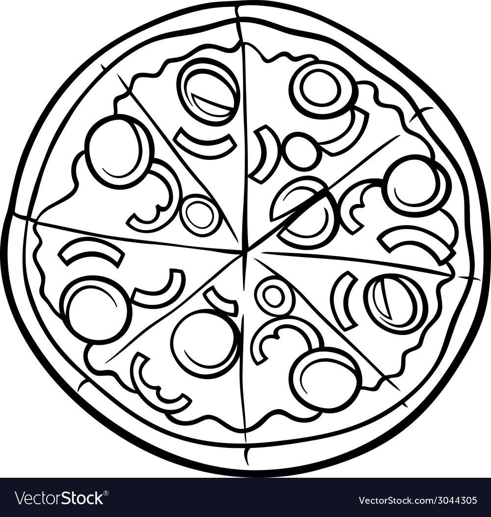 1000x1054 Pizza Drawing Cartoon