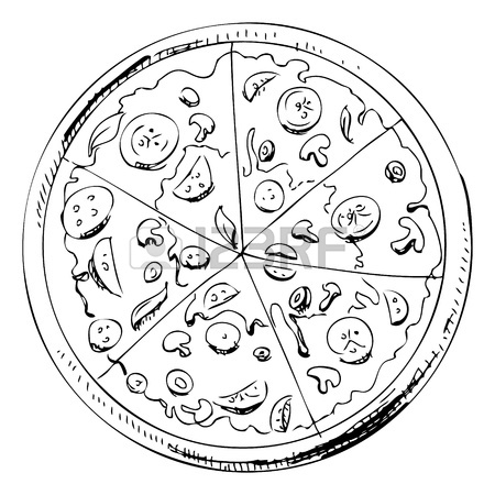 450x450 Sliced Pizza Icon Royalty Free Cliparts, Vectors, And Stock