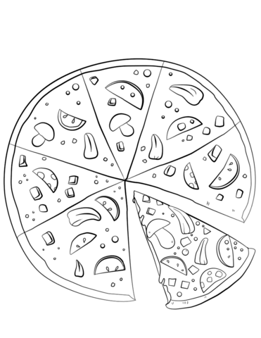 371x480 Sliced Pizza Coloring Page Free Printable Coloring Pages