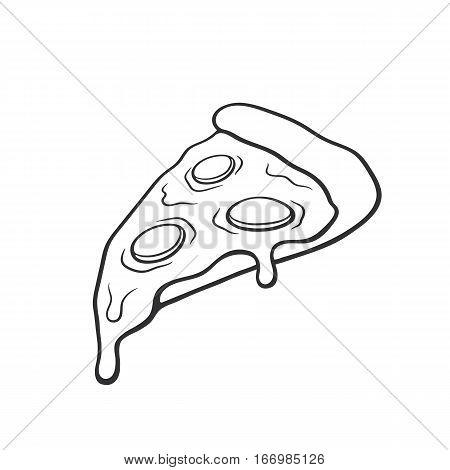 450x470 Vector Illustration. Pizza Slice Vector Amp Photo Bigstock