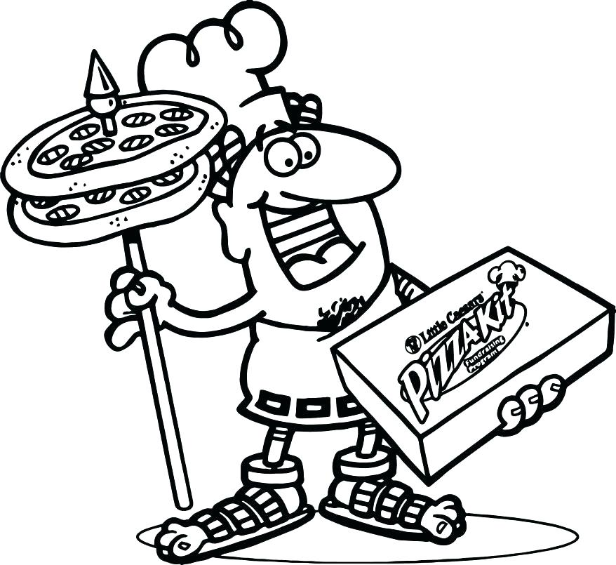 878x805 Pizza Coloring Pages Affan