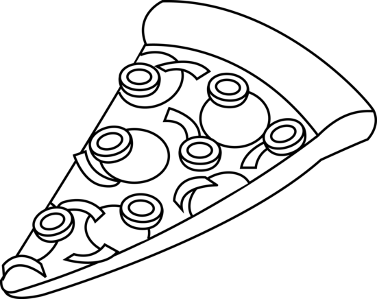 550x436 Line Art Of A Slice Of Pizza