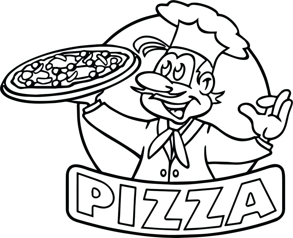 970x790 Pizza Coloring Pages
