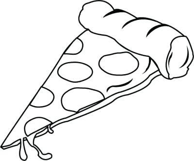 400x332 Pizza Coloring Picture Heart Disease Of Junk Food Pizza Coloring