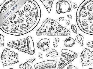 310x233 Pizza Pattern Vector Free Vectors Ui Download