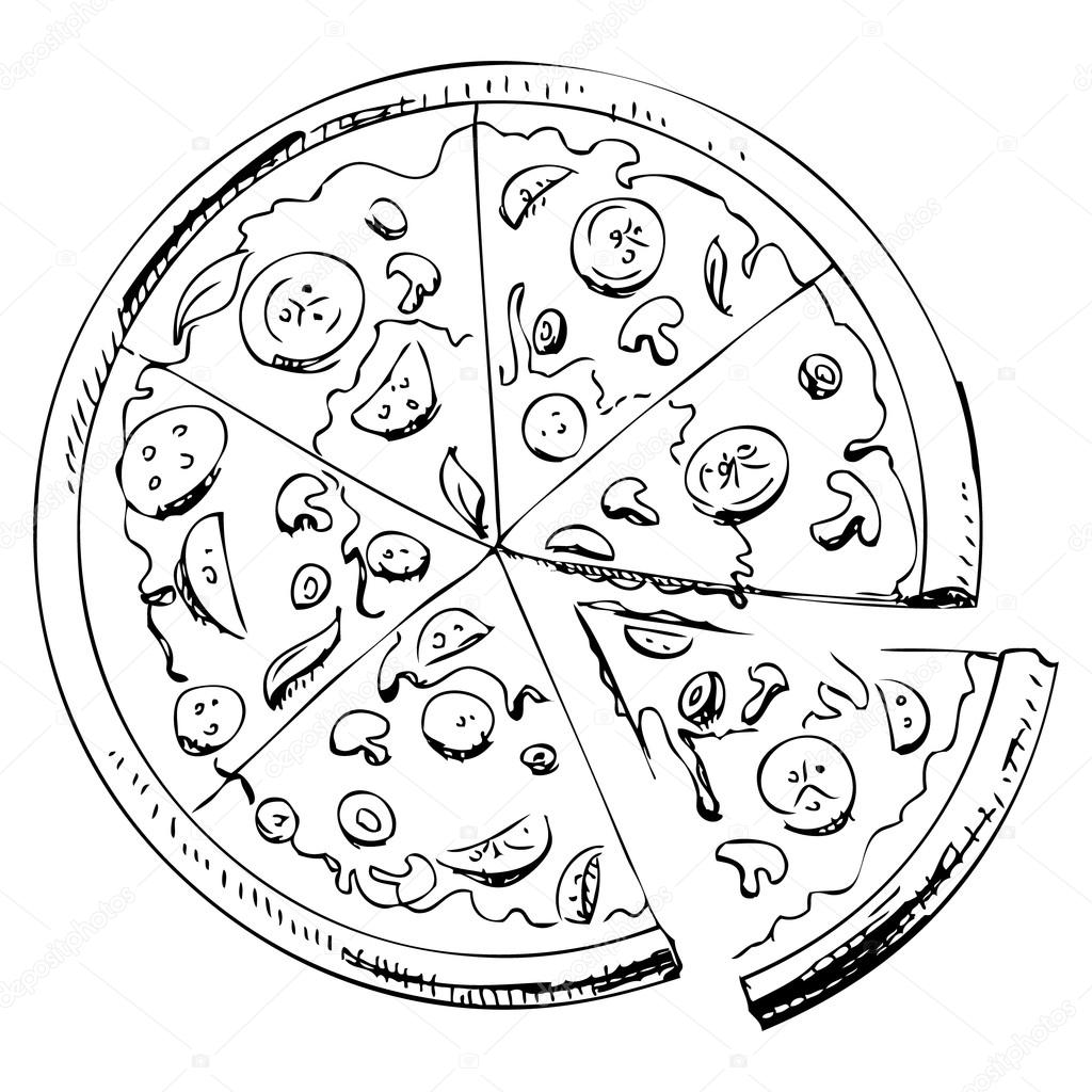 1024x1024 Pizza Icon Stock Vector Chuhail