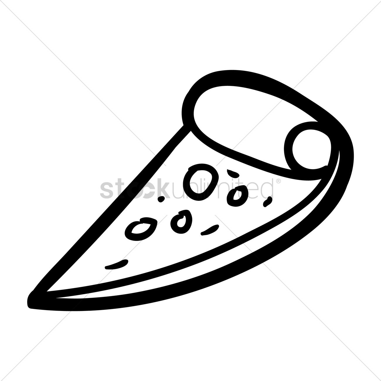 1300x1300 Slice Of Pizza Vector Image