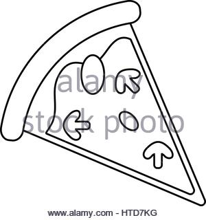 300x320 Line Delicious Slice Of Pizza Food Stock Vector Art Amp Illustration