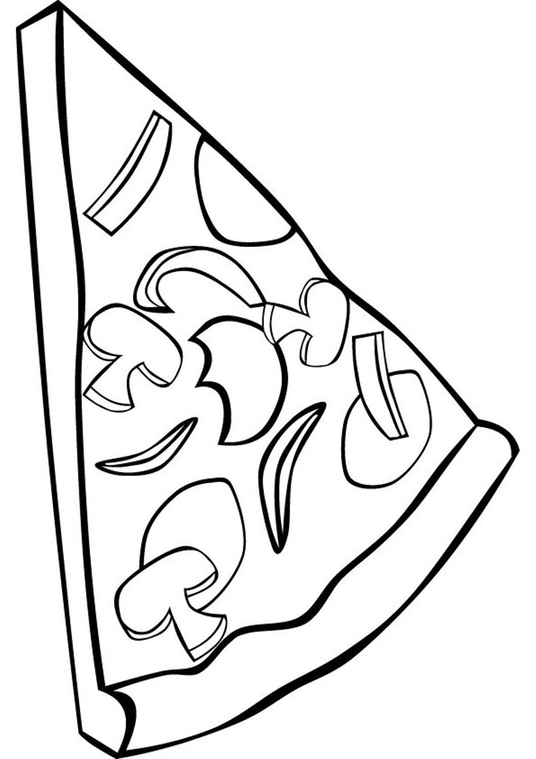 Pizza Line Drawing at GetDrawings | Free download