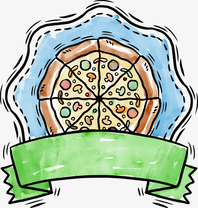 650x683 Drawing Vector Pizza Ribbon Icon, Watercolor, Vector, Pizza Png