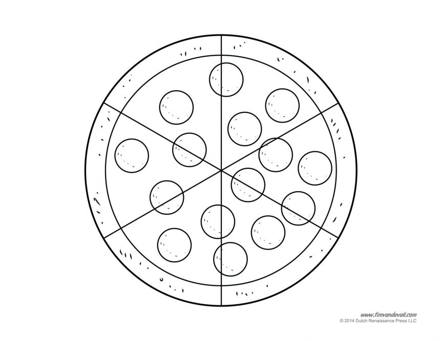 863x667 Pizza Coloring Pages For Free Book With Cheese Slice Page