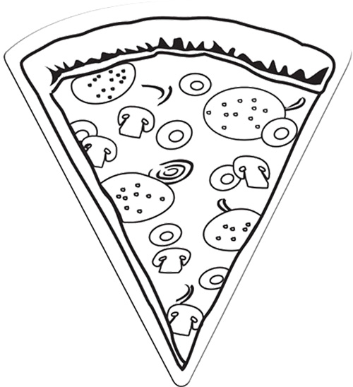 500x548 Pizza Slice Magnet Extralarge Coloring Page Cookie