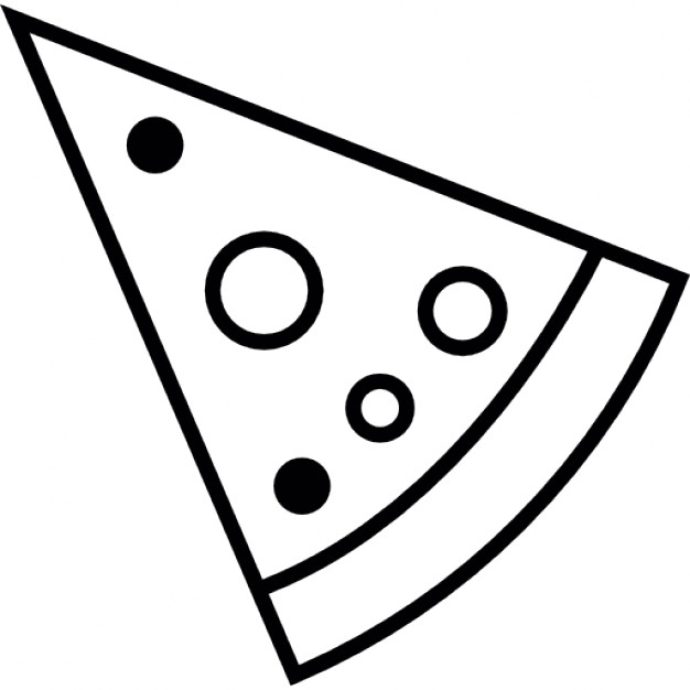 626x626 Pizza Slice With Round Toppings Icons Free Download