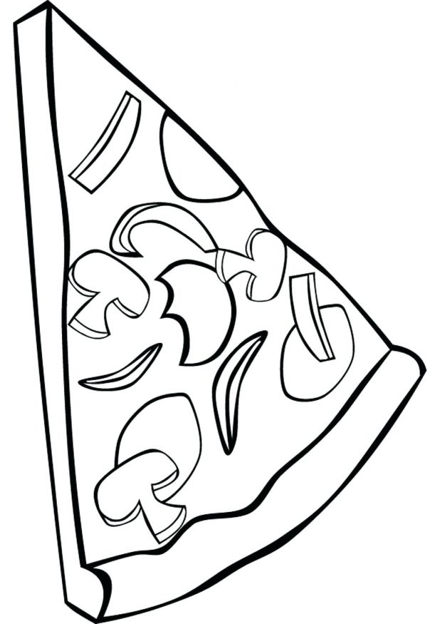 618x875 Coloring Pages Surprising Pizza Slice Coloring Page. Pizza Slice