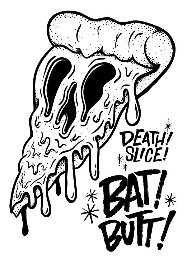 601x847 Death Slice X Bat Butt Merch On Behance Dibujos