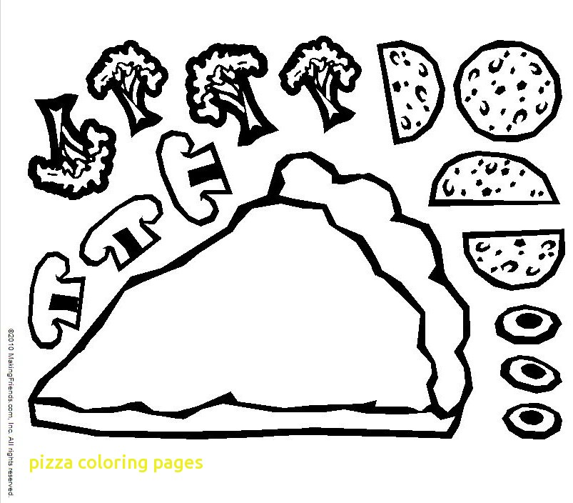 803x704 Pizza Coloring Pages With Pizza Coloring Page With Pizza Coloring