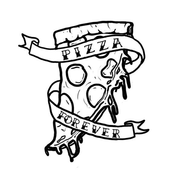 599x581 Tattoo Design For A Pizza Lover Tattoos Tattoo