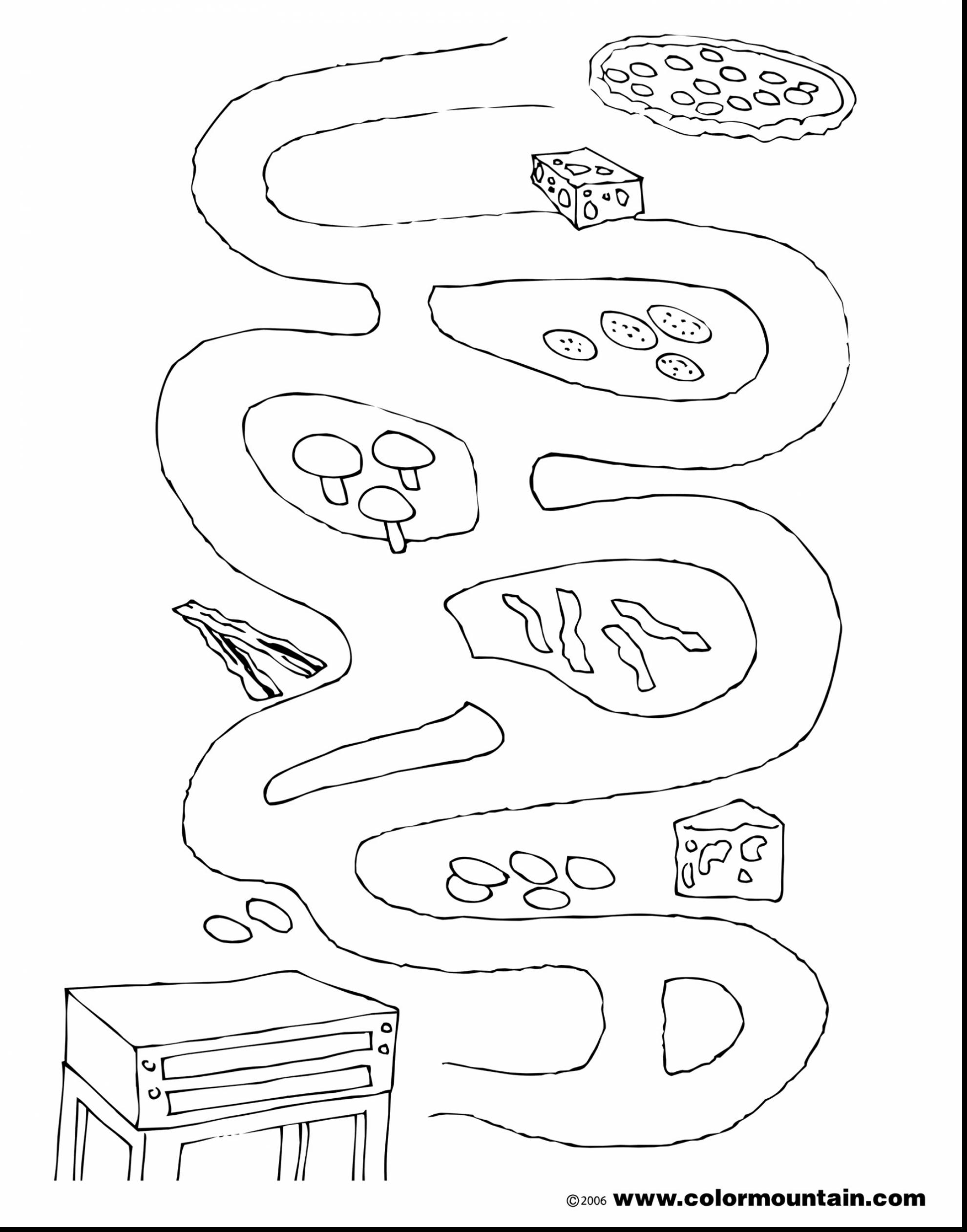 1980x2523 Astounding Pepperoni Pizza Coloring Page Maze Sheet With Pizza